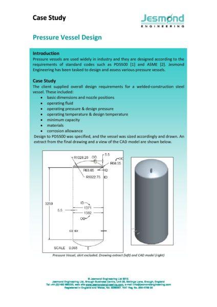 Pressure Vessel Case Study