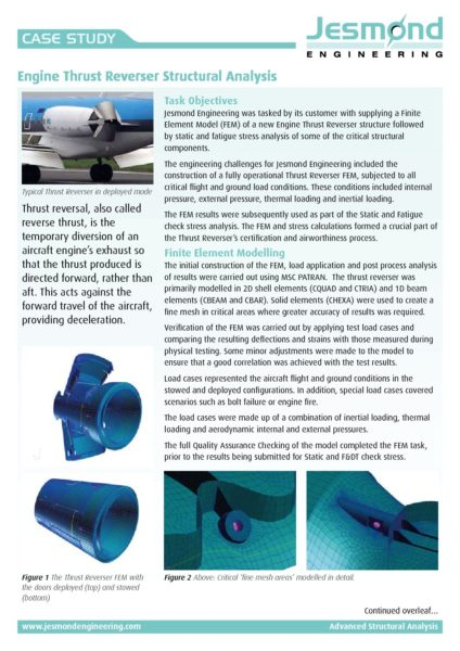 Engine Thrust Reverser Case Study